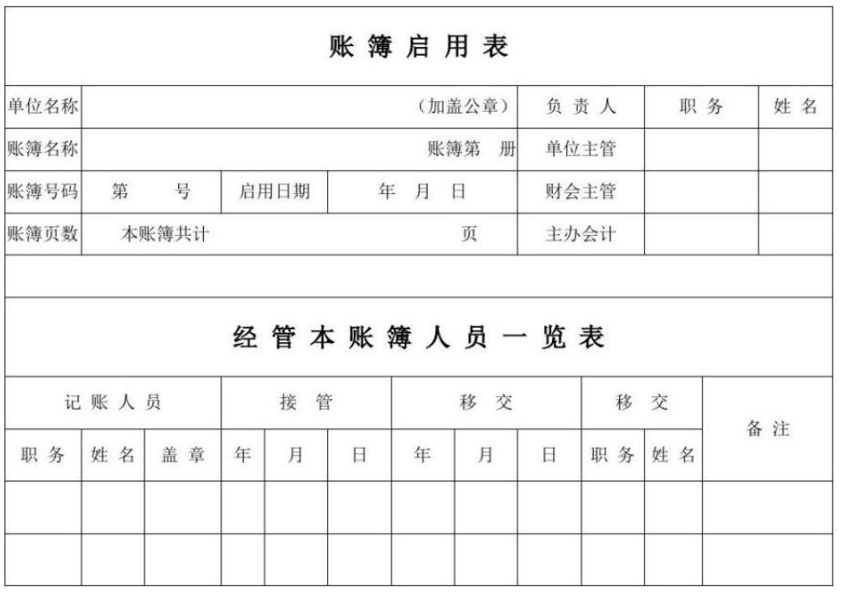 账簿启用表怎么填 会计实务 第2张