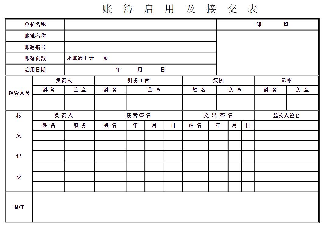 账簿启用表怎么填 会计实务 第3张
